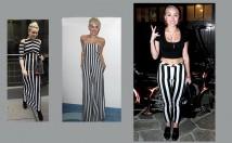 Miley Cyrus' Fashion Trend: Black and White Stripes